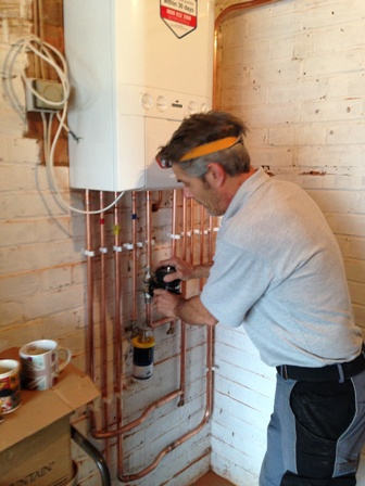 Image result for Central heating boiler installation
