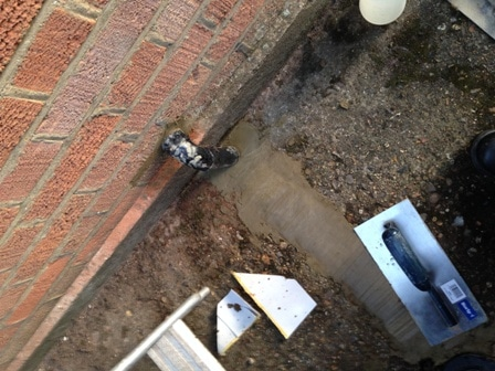 Combi condensing boiler installed in datchworth herts for Outside waste pipe