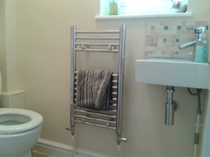 Toilet radiator and basin installation in Tewin, Hertfordshire
