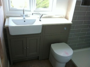 Fitted cupboards & toilet