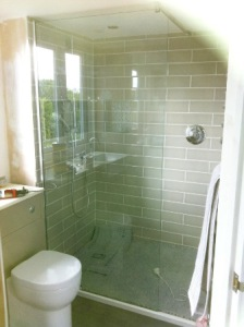 Shower and toilet installed in loft conversion in tewin