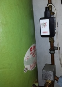 Hot water tank and pump