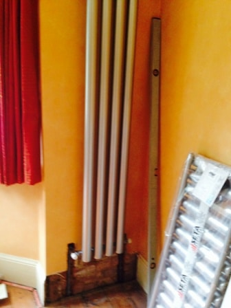 Digswell contemporary radiator install - before