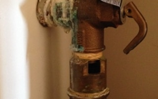 Corroded temperature valve in Hertford - before