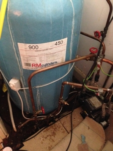 Wheathampsted old hot water cylinder replacement
